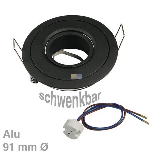 Klick zeigt Details von Lampenhalter Rund Schwarz Rutec ALU55552 Alu
