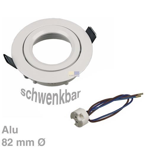 Klick zeigt Details von Lampenhalter Rund Weiß, Alu
