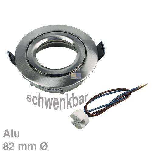 Klick zeigt Details von Lampenhalter Rund Eisen gebürstet Rutec ALU55485 Alu