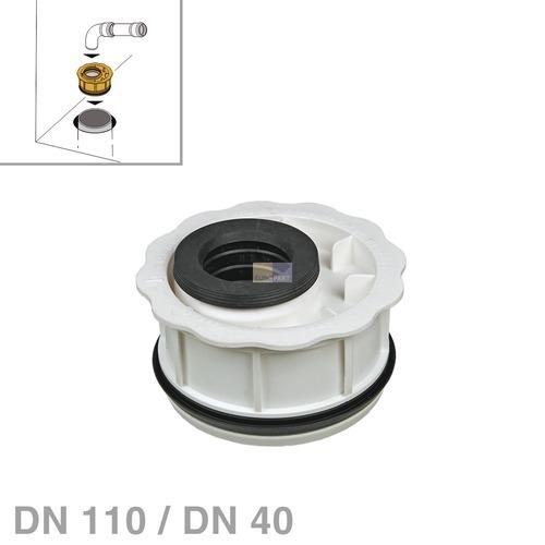 Klick zeigt Details von Abwasserrohr-Reduzierung DN110 / DN40 nach DIN4102-B1 Haas 6691