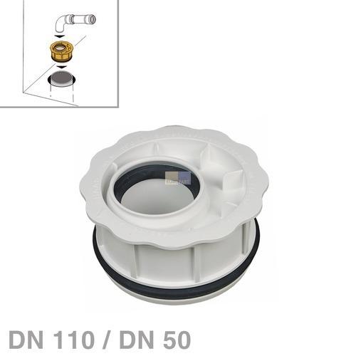 Klick zeigt Details von Abwasserrohr-Reduzierung DN110 / DN50 nach DIN4102-B1