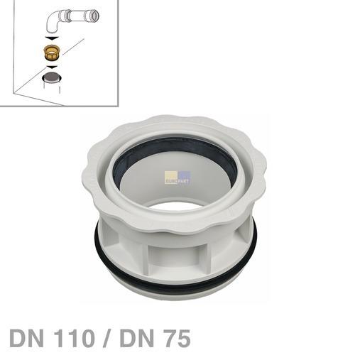 Klick zeigt Details von Abwasserrohr-Reduzierung DN110 / DN75 nach DIN4102-B1