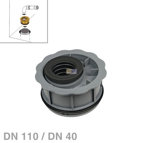 Klick zeigt Details von Abwasserrohr-Reduzierung DN110 / DN40 nach DIN4102-B2 Haas 6667