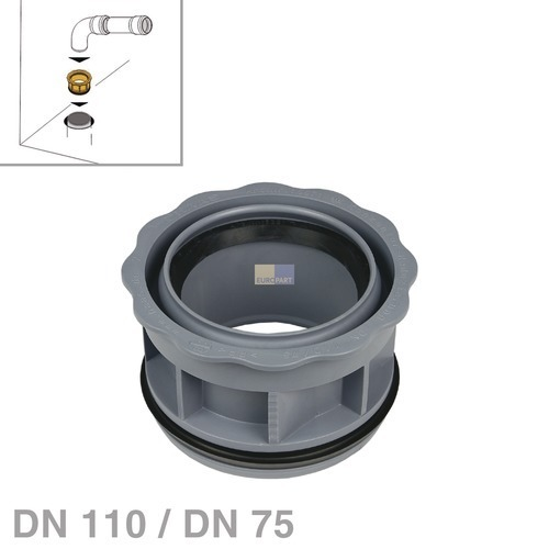 Klick zeigt Details von Abwasserrohr-Reduzierung DN110 / DN75 nach DIN4102-B2