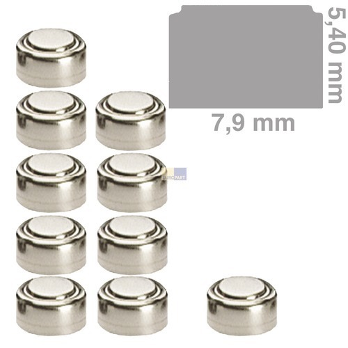 Klick zeigt Details von Knopfzelle AG5 Camelion, passend wie 393, 10 Stück