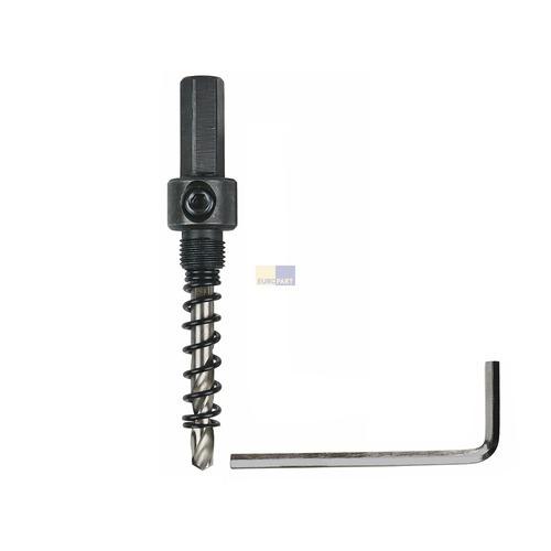 Klick zeigt Details von Aufnahmeschaft + Zentrierbohrer für Lochsägen 14-30mmØ