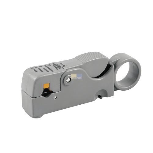 Klick zeigt Details von Abisolierwerkzeug für TV/Radio Flach- und Rundleitungen
