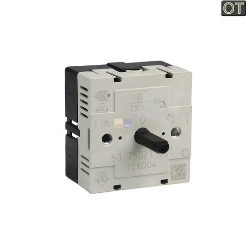 Klick zeigt Details von Kochplattenschalter EGO 50.75021.001  GORENJE 156004 - NML. Ersatz = 10034445
