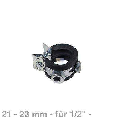 Klick zeigt Details von Rohrschelle 21-23mm M8 für 1/2