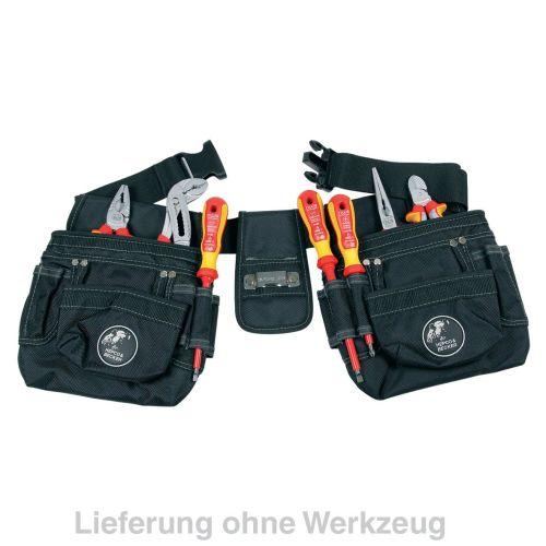 Klick zeigt Details von Werkzeuggürtel Universal-Werkzeuggürtel mit Softtaschen Hepco&Becker 00 5856 8019