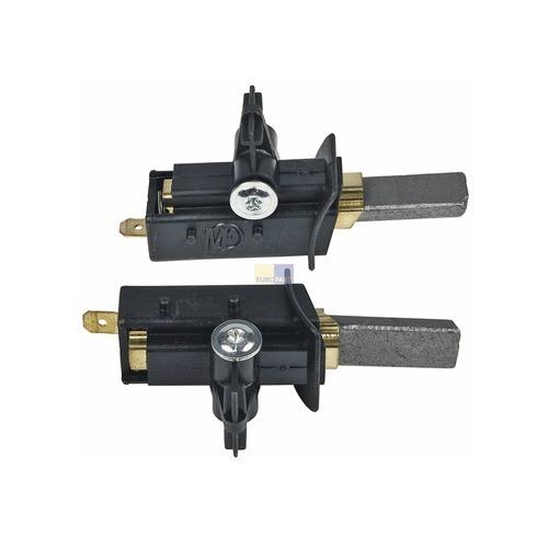 Klick zeigt Details von Kohle kpl. mit Halter 6,3mmAMP mit Ösen und Schrauben, 2 Stück