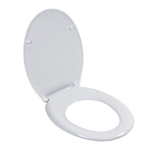 Klick zeigt Details von WC-Sitz Siena Duroplast-Kunststoff weiß