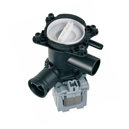 Klick zeigt Details von Ablaufpumpe mit Pumpenstutzen und Flusensiebeinsatz AT!