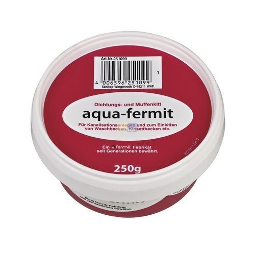 Klick zeigt Details von Dichtungsmasse aqua-fermit für Waschbecken WCs 250g