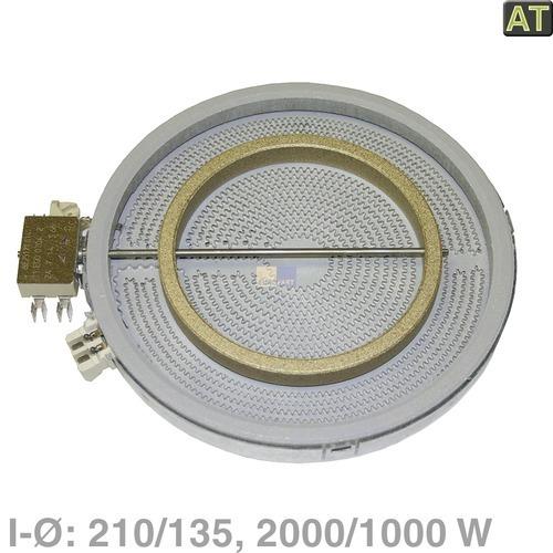 Klick zeigt Details von HiLight-Heizkörper 210/140mmØ 2000/1000W  EGO 10.51216.412, wie MIELE 4342391