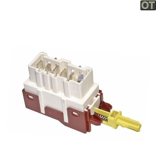 Klick zeigt Details von Tastenschalter 1-fach Ein/Aus ZANUSSI 124927131/1 Original für Waschmaschine