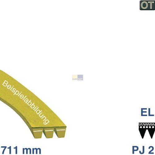 Klick zeigt Details von Poly-V-Riemen 711 J2 EL, AEG Trockner