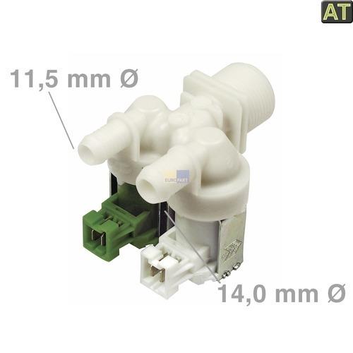 Klick zeigt Details von Magnetventil 2-fach 180° 11,5mm+14,0mmØ, AT!