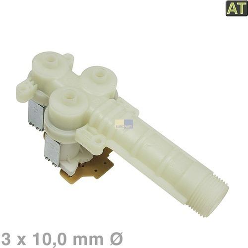 Klick zeigt Details von Magnetventil 3-fach 90° 10,0mm  wie AEG / Electrolux 899645238280