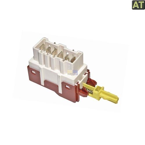 Klick zeigt Details von Tastenschalter 1-fach Ein/Aus ZANUSSI 124927131/1 Alternative für Waschmaschine