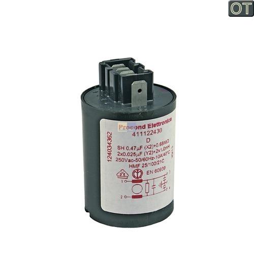Klick zeigt Details von Entstörschutz 0,47µF AEG Zanker 124034362 Störschutzfilter für Waschmaschine