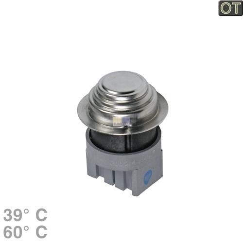 Klick zeigt Details von Temperaturbegrenzer 39-60° 2-fach AEG Zanker 124034532 Klixon Waschmaschine