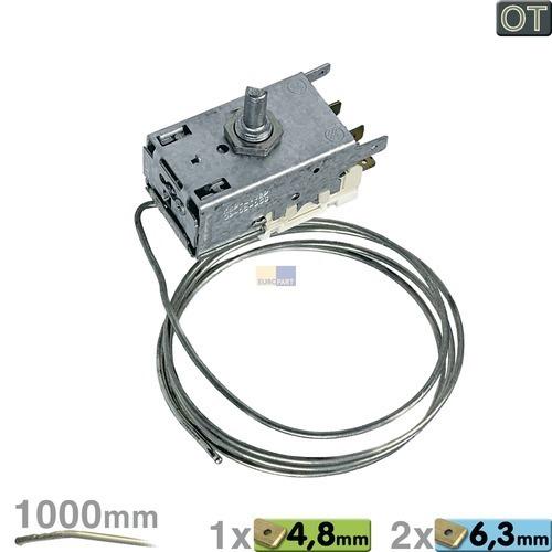 Thermostat K59-L1129 Ranco 1000mm Kapillarrohr 1x4,8mm/2x6,3mm AMP, OT!