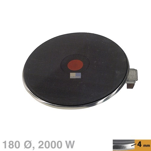 Klick zeigt Details von Kochplatte 180mmØ 2000W 230V 4 mm  EGO 13.18474.040