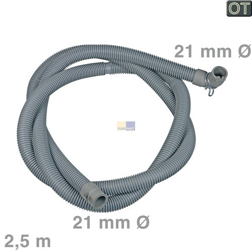 Klick zeigt Details von Ablaufschlauch AEG Zanussi Electrolux Zanker Silentic