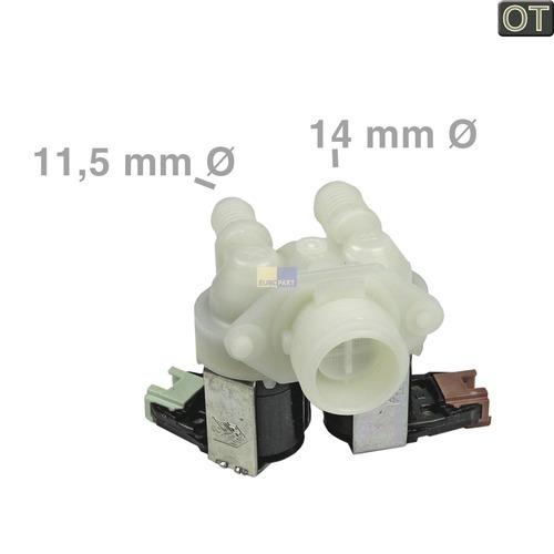 Klick zeigt Details von Zulaufventil AEG Zanussi Electrolux Zanker Rex Progress Silentic