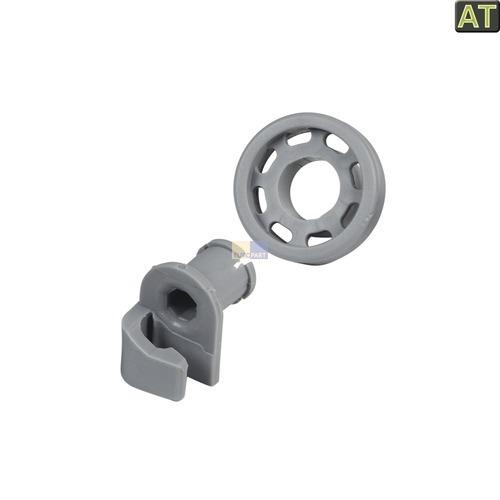 Klick zeigt Details von 2 x Korbrolle Oberkorb wie Bosch 00424717 424717 Spülmaschine Neff Balay Quelle