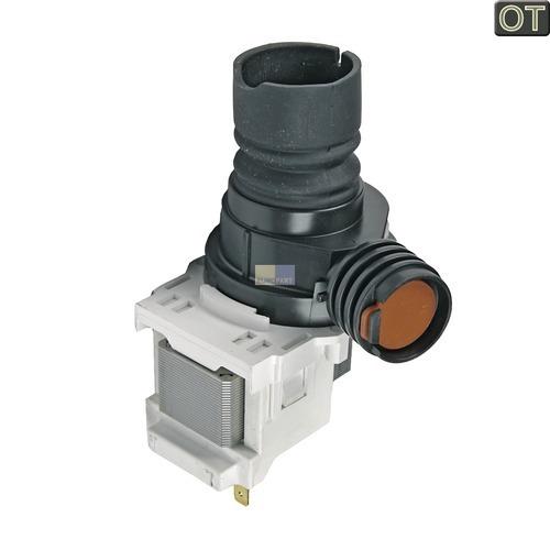 Klick zeigt Details von Ablaufpumpe mit Pumpenstutzen AEG 14000044302 Laugenpumpe für Spülmaschine