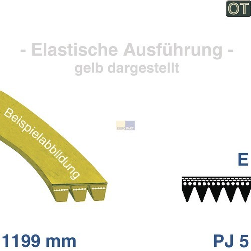 Klick zeigt Details von Poly-V-Riemen 1199 J5 EL, AEG