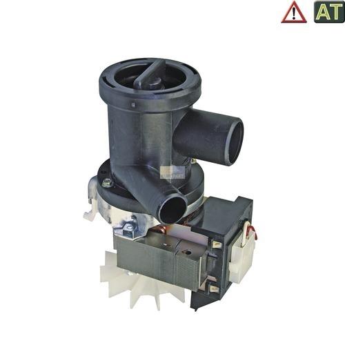 Klick zeigt Details von Ablaufpumpe mit Pumpenstutzen Flusensiebeinsatz AT! Whirlpool 481936018146