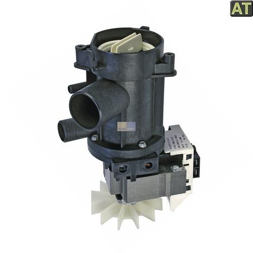Klick zeigt Details von Ablaufpumpe mit Pumpenstutzen Flusensiebeinsatz AT! Whirlpool 481936018189