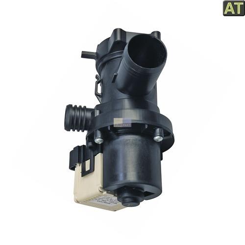 Klick zeigt Details von Ablaufpumpe mit Pumpenstutzen Flusensiebeinsatz Whirlpool 480111100786