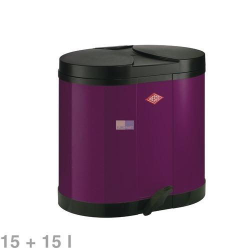 Klick zeigt Details von Abfallsammler 15l + 15l Öko-Sammler170 brombeer