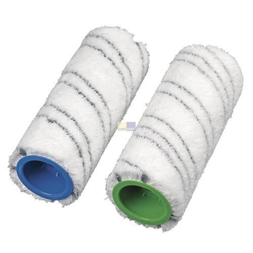 Klick zeigt Details von Mikrofaser-Reinigungswalze für Kärcher Hartbodenreiniger, grau 2 Stück