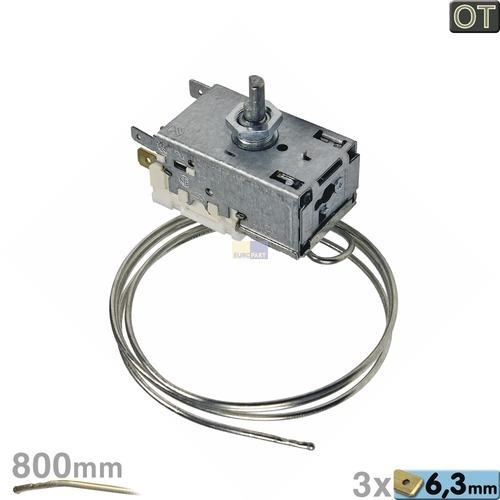 Klick zeigt Details von Thermostat K59-L2076 Ranco 800mm Kapilarrohr 3x6,3mm AMP