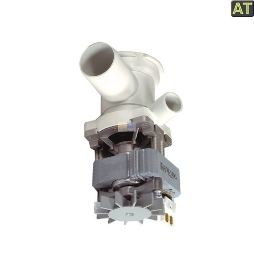 Klick zeigt Details von Ablaufpumpe mit Pumpenstutzen und Flusensiebeinsatz, AT2!