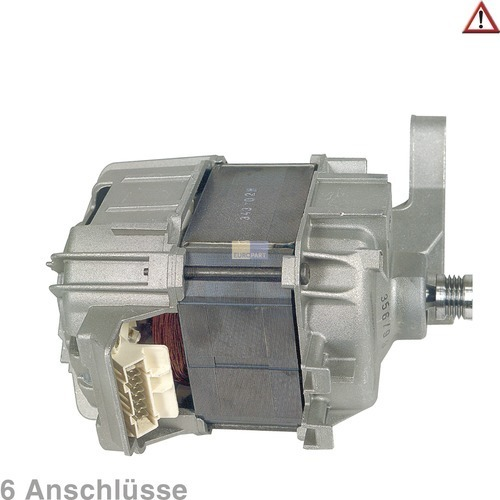 Klick zeigt Details von Motor Waschmaschine 6 Anschlüsse Bosch Neff Foron Constructa Siemens Vorwerk DeDietrich Novamatic Merker Thermor Airlux Schulthess