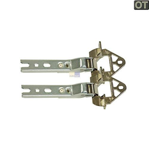Klick zeigt Details von 2 x Kühlschrank Scharnier Bosch Siemens 268698 / 00268698 Neff Miele Brandt Küpp