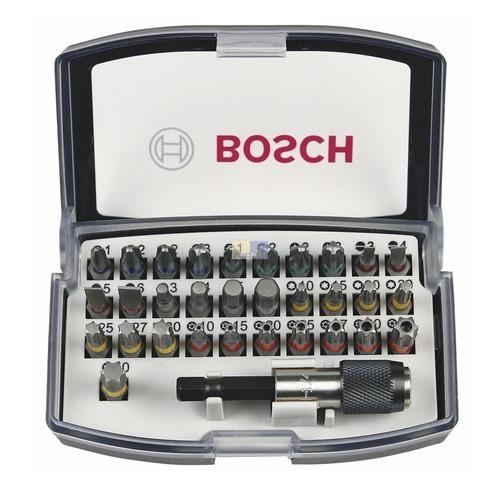 Klick zeigt Details von Bit-Satz 25mm Bosch 2607017319-E6U 32-teilig mit Farbcodierungen