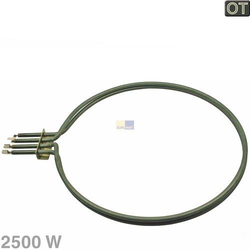Klick zeigt Details von Heizelement 2500W, rund, OT!, Whirlpool-Gruppe/Philips.. 481925928745
