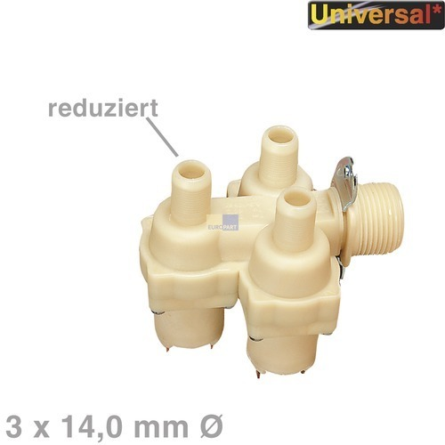 magnetventil ventil 3fach waschmaschine universell. Black Bedroom Furniture Sets. Home Design Ideas