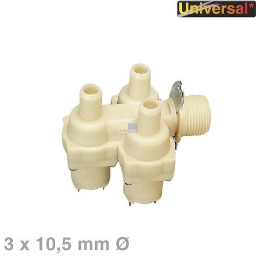 Klick zeigt Details von Magnetventil 3-fach 90° 10,5mmØ, Universal!