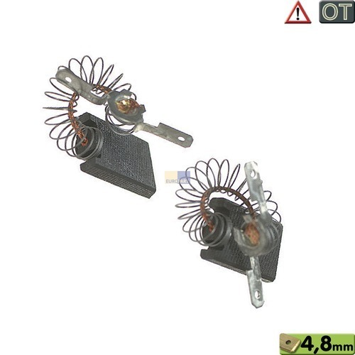 Klick zeigt Details von Kohlen Motorkohlenpaar Waschmaschine 1689370 Miele (WA/Mangel) 15x5x27mm, OT