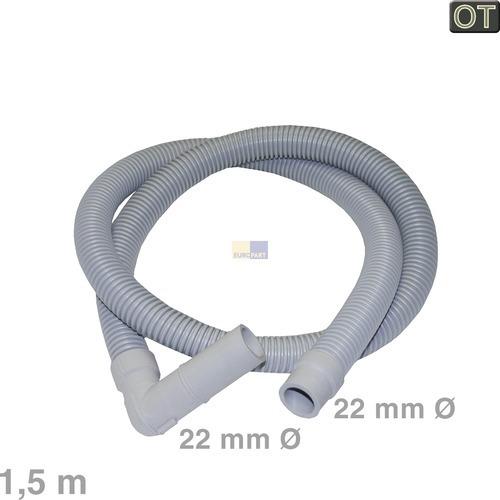Klick zeigt Details von Ablaufschlauch Winkel/gerade 22/22mmØ 1,5m, OT!