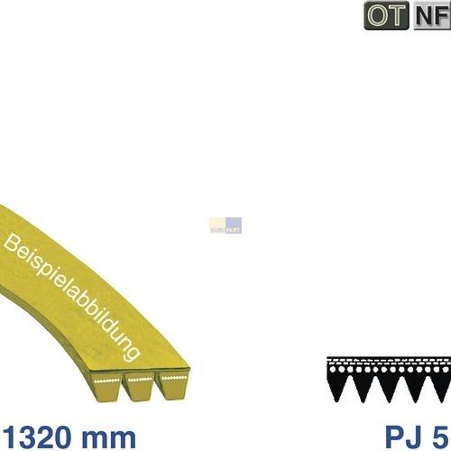 Klick zeigt Details von Poly-V-Riemen 1321 J5 Miele HV gepr.  ersetzt 1320 J6, MIELE 5749920