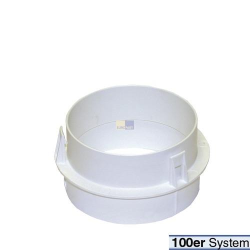 Klick zeigt Details von Adapter Trockner 6595070 Miele Abluftmodul Anschlussstutzen